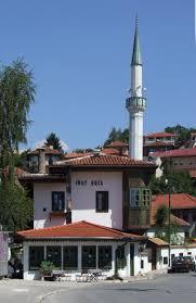Edificio actual del Inat Kuca o casa del odio en Sarajevo. Construcción típica otomana de la época. Fuente Wikimedia Commons