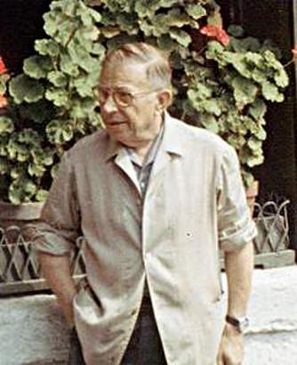Foto de Jean Paul Sartre. Fuente Wikimedia