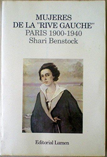 """Portada del libro """"Mujeres de la Rive Gauche"""" de Shari Benstock"""